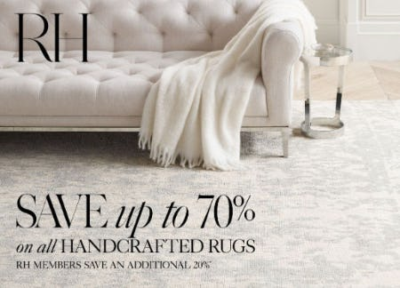 Up to 70% Off Handcrafted Rugs from Restoration Hardware