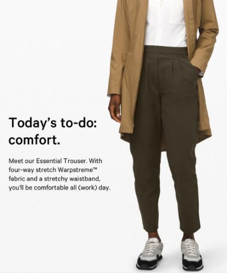 Meet Our Essential Trouser from lululemon