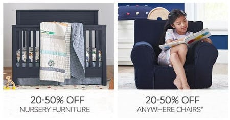 20–50% Off Nursery Furniture & Anywhere Chairs from Pottery Barn Kids