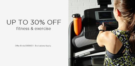 Up to 30% Off Fitness & Exercise from Sears