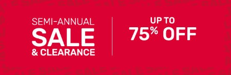 Semi Annual Clearance Up to 75% Off