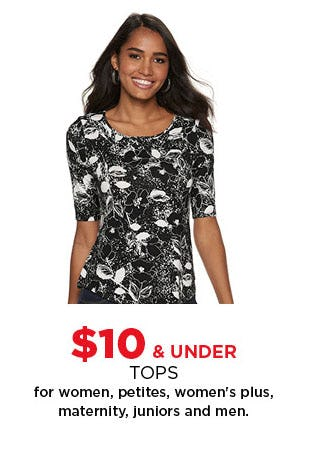 $10 & Under Tops from Kohl's