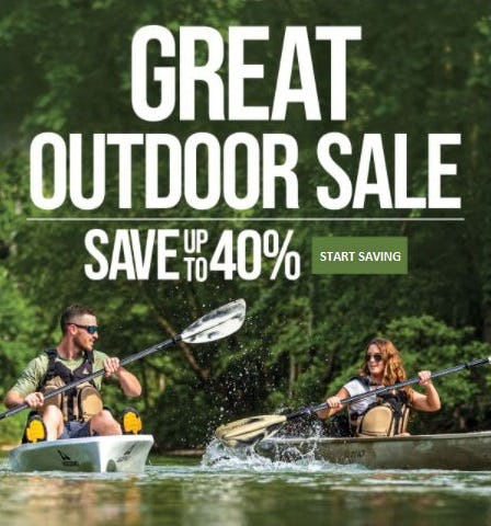 The Great Outdoor Sale up to 40% Off from Cabela's