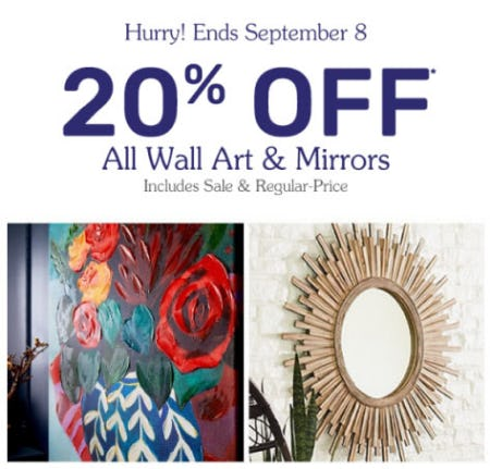 20% Off All Wall Art & Mirrors at Pier 1 Imports | Prince Kuhio Plaza