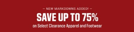 Save up to 75% on Select Clearance Apparel and Footwear from Dick's Sporting Goods