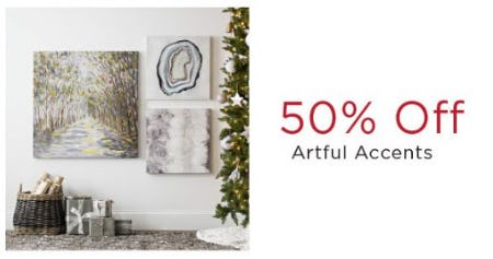 50% Off Artful Accents from Kirkland's