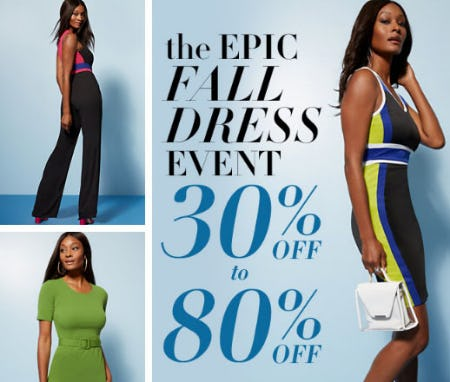 30% Off to 80% Off The Epic Fall Dress Event from New York & Company