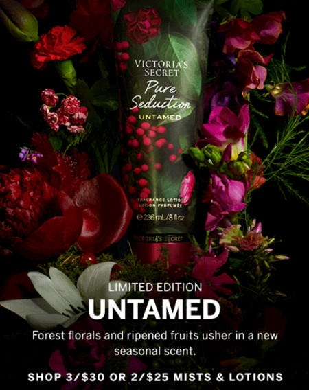 3 for $30 or 2 for $25 Mists & Lotions from Victoria's Secret