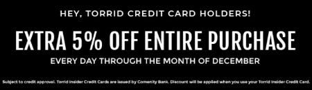 Extra 5% Off Entire Purchase from Torrid