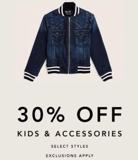 30% Off Kids & Accessories