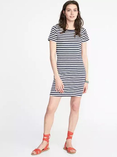 Slub-Knit Tee Dress
