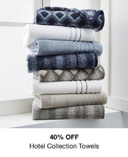 40% Off Hotel Collection Towels