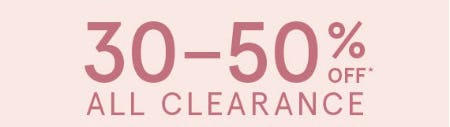 30-50% Off All Clearance