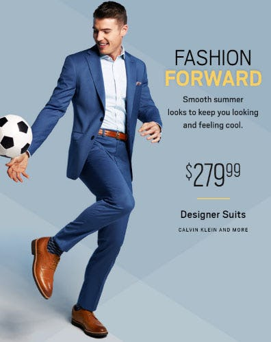 $279.99 Designer Suits from Men's Wearhouse