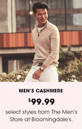 $99.99 Men's Cashmere from Bloomingdale's