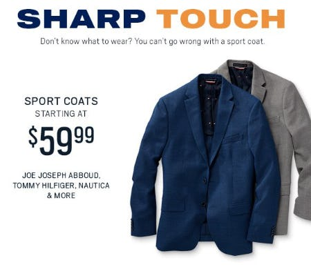Sport Coats Starting at $59.99 from Men's Wearhouse