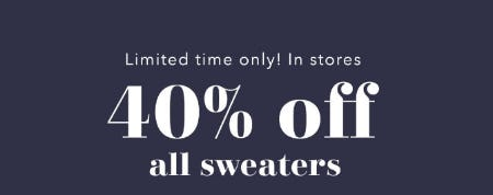 40% Off All Sweaters from Aerie
