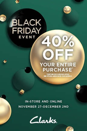 Black Friday 40% Off!