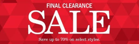 Up to 70% Off Sale from Johnston & Murphy