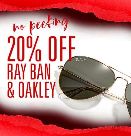 89367c4222c Sale at Solstice Sunglass Boutique. 20% Off Ray Ban   Oakley