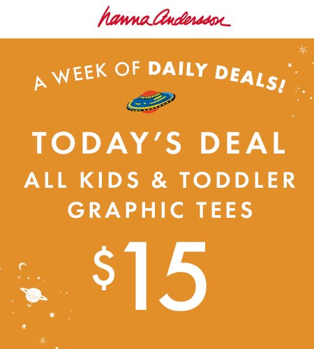$15 Graphic Tees from Hanna Andersson