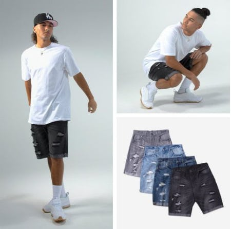 Meet Bold Denim Shorts from CSG from Champs Sports