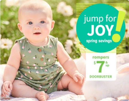 Doorbuster Rompers $7 & Up from Carter's