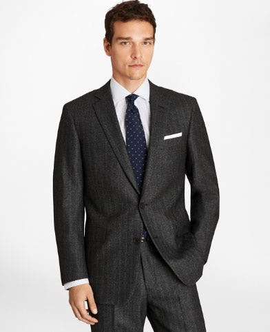 Regent Fit Herringbone 1818 Suit from Brooks Brothers