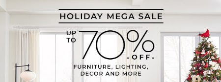 Holiday Mega Sale from Pottery Barn