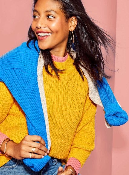 Meet our New Shake Stitch Sweater from Old Navy