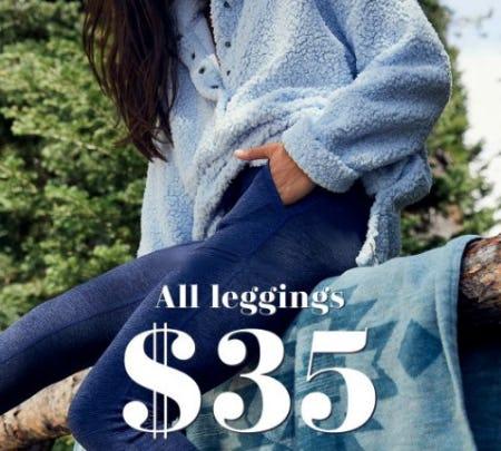 All Leggings $35 from Aerie