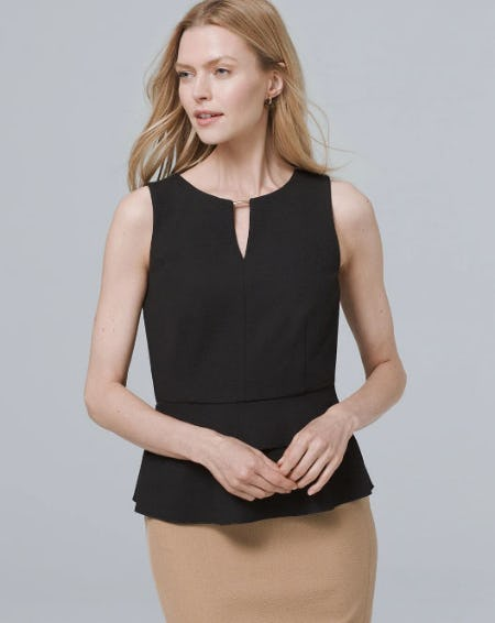 Tiered Bodice Top from White House Black Market