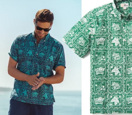 The Classic 1968 Lahaina Sailor Print Refreshed from Reyn Spooner