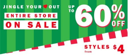 Entire Store on Sale up to 60% Off