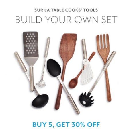 Buy 5, Get 30% Off Cooks' Tools