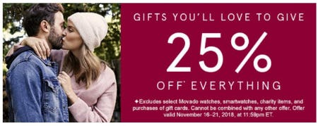25% Off Everything from Kay Jewelers