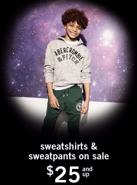 Sweatshirts & Sweatpants on Sale $25 & Up