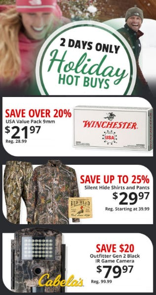 Holiday Hot Buys from Cabela's