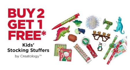 B2G1 Free Kids' Stocking Stuffers by Creatology from Michaels