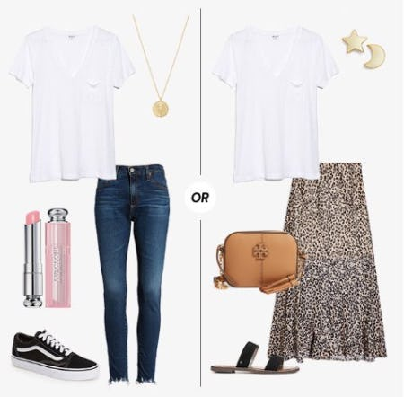 Two Ways to Wear a White Tee from Nordstrom