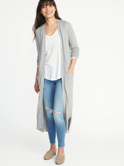 Super-Long Open-Front Sweater for Women from Old Navy