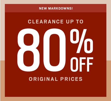 Clearance Up to 80% Off Original Prices