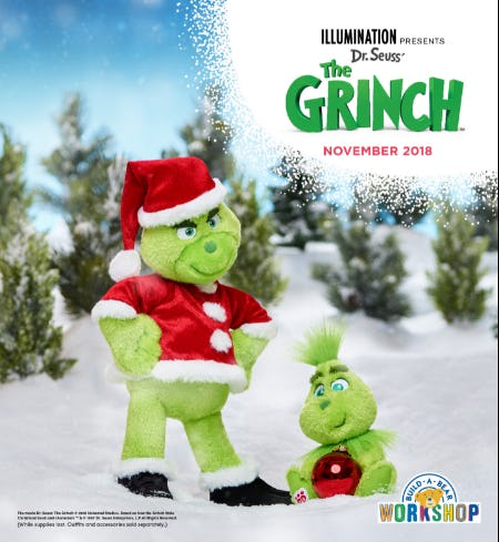 He's a Mean One! Make Your Own Grinch at Build-A-Bear Workshop! from Build-A-Bear Workshop