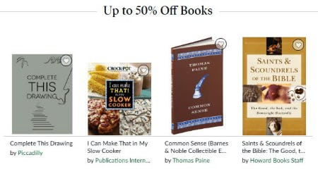 Up to 50% Off Books