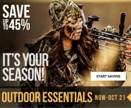Up to 45% Off Outdoor Essentials from Cabela's