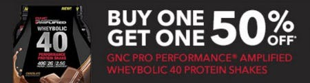 BOGO 50% Off GNC Pro Performance Amplified Wheybolic 40 Protein Shakes