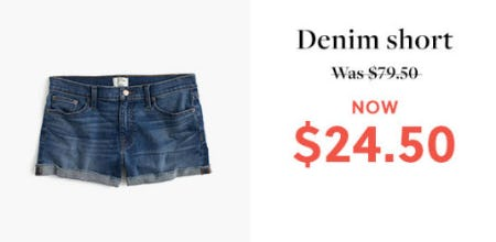 $24.50 Denim Short from J.Crew