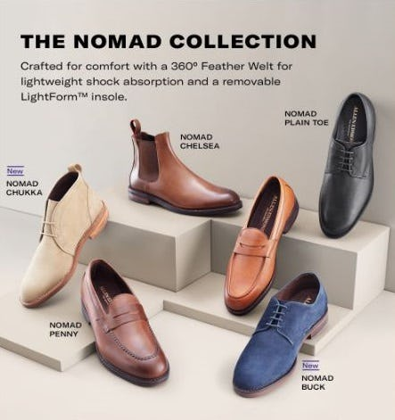 The Nomad Collection from Allen Edmonds