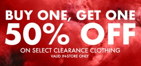 BOGO 50% Off Select Clearance Clothing from Eblens Clothing and Footwear