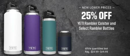 25% Off YETI Rambler Colster and Select Rambler Bottles